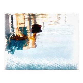 Reflexão na água impressão de foto