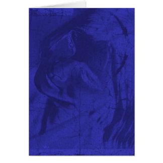 Reflexões azuis cartão comemorativo