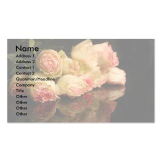 Reflexões cor-de-rosa cartão de visita