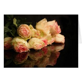 Reflexões cor-de-rosa cartões
