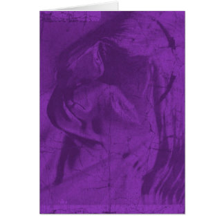 Reflexões roxas cartão comemorativo