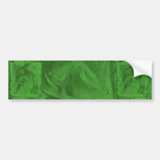 Reflexões verdes mim autocolante no vidro traseiro adesivos