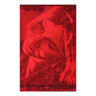 Reflexões vermelhas papéis personalizados