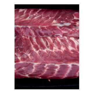 Reforços de carne de porco cartão postal