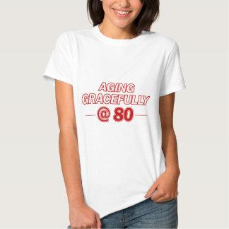 refrigere 80 anos de presentes velhos t-shirt