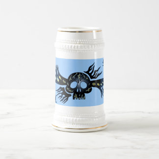 Refrigere a caneca de cerveja tribal da arte