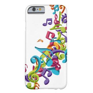 refrigere notas coloridas da música & soe a imagem capa barely there para iPhone 6