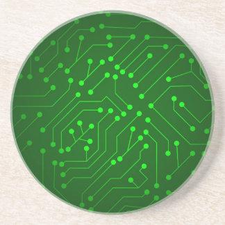 Refrigere o design verde do conselho de circuito porta-copos de arenito