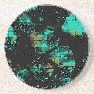 Refrigere o preto e o teste padrão abstrato do porta-copos de arenito