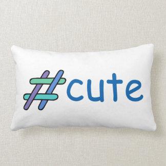 Refrigere o verde azul & o roxo de Hashtag do Travesseiros De Decoração