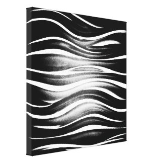 Refrigere Squiggles preto e branco abstratos Impressão Em Tela