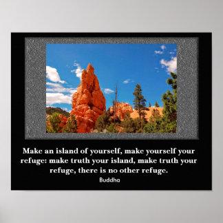 Refúgio - poster das citações de Buddha