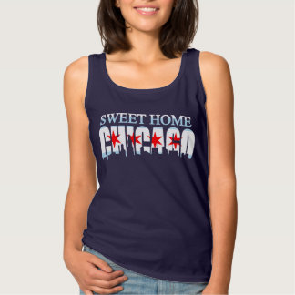 Regata Basic Skyline Home doce da bandeira de Chicago