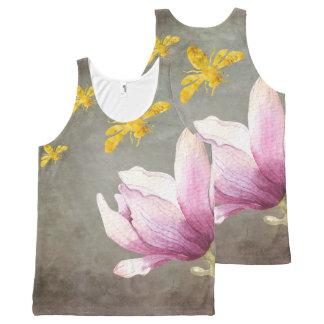 Regata Com Estampa Completa Abelhas da flor & do ouro da aguarela