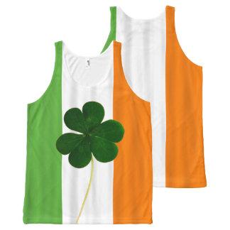 Regata Com Estampa Completa Almofada irlandesa do trevo da bandeira do dia de