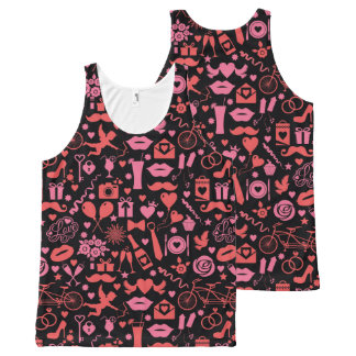 Regata Com Estampa Completa Amor cor-de-rosa
