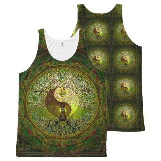Regata Com Estampa Completa Árvore de Yin Yang de vida