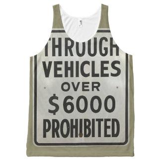 Regata Com Estampa Completa através dos veículos proibidos