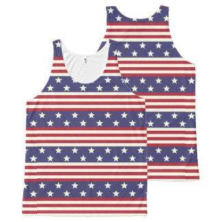 Regata Com Estampa Completa Bandeira dos Estados Unidos patriótica EUA da
