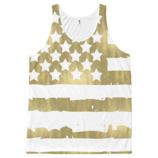 Regata Com Estampa Completa Bandeira Glam dos EUA do ouro