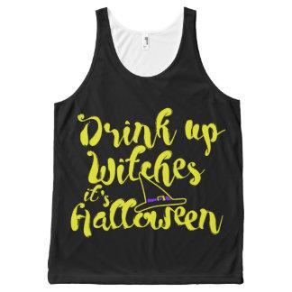 Regata Com Estampa Completa Bebida acima dos withes, é o Dia das Bruxas