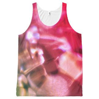 Regata Com Estampa Completa Camisa colorida da camisola de alças