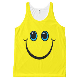 Regata Com Estampa Completa Cor do costume do smiley face