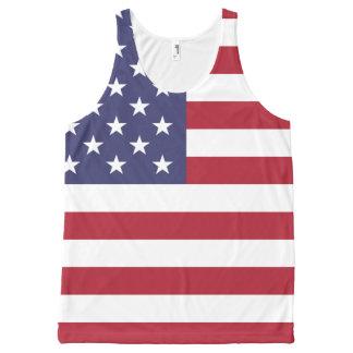 Regata Com Estampa Completa Design da camisa da bandeira de América