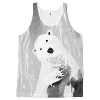 Regata Com Estampa Completa Design preto e branco original do urso polar
