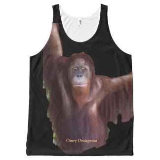 Regata Com Estampa Completa Estrela de cinema do animal do orangotango de Omry