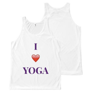 Regata Com Estampa Completa Eu amo a camisola de alças unisex da ioga