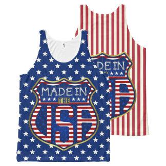 Regata Com Estampa Completa Feito nos EUA 4ns do logotipo americano orgulhoso