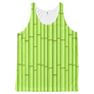 Regata Com Estampa Completa Fundo de bambu verde do vetor