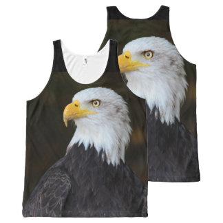 Regata Com Estampa Completa Impressão da fotografia de Eagle do americano