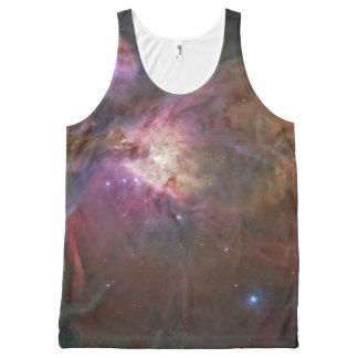 Regata Com Estampa Completa Nebulosa de Orion por todo o lado no tanque unisex