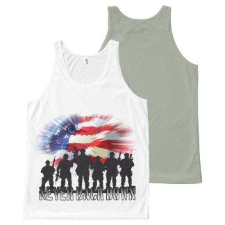 Regata Com Estampa Completa Os soldados patrióticos da bandeira americana