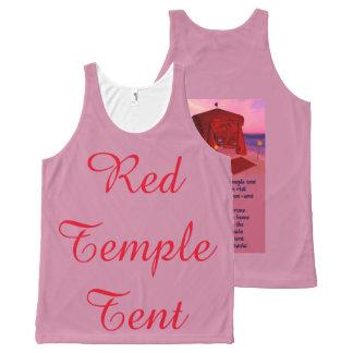 Regata Com Estampa Completa Poesia vermelha da barraca do templo por todo o