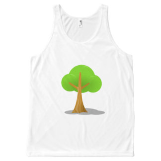 Regata Com Estampa Completa Tshirt simples da árvore