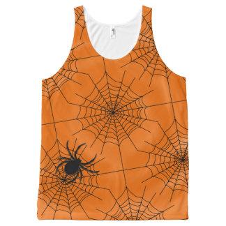 Regata Com Estampa Completa Web de aranha com a aranha no Dia das Bruxas