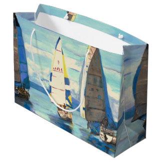 Regata da navigação - saco feito sob encomenda do sacola para presentes grande