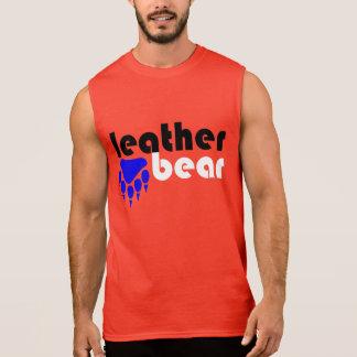 Regata Pata de urso azul do urso de couro