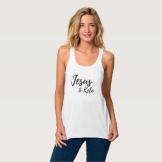 Regata Racerback Flowy O tanque das mulheres de Jesus e de Keto