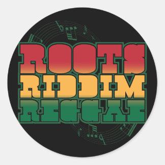 Reggae de Riddim das raizes Adesivo