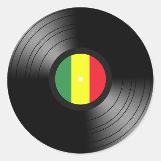 Reggae do vinil adesivo em formato redondo