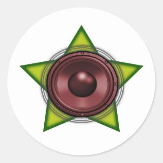 Reggae Dubstep do Dub da estrela de Rasta do Adesivo