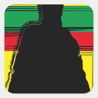 Reggae ferida arte adesivo quadrado