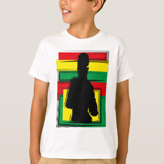 Reggae ferida arte t-shirt
