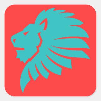 REGGAE LION ADESIVO QUADRADO