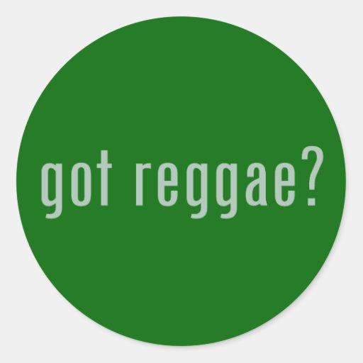 reggae obtida? adesivo em formato redondo