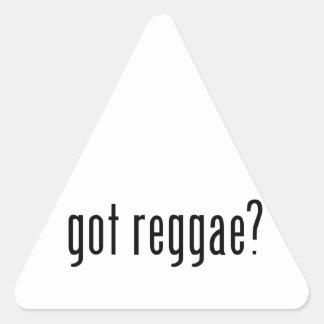 reggae obtida? adesivo em forma de triângulo
